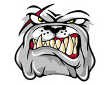 illustration of angry bulldog mascot cartoon character in vector - 188289766