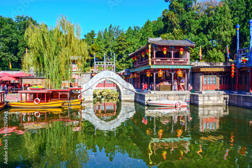 Plexiglas Peking Traditional Chinese building. Located in the Summer Palace. Beijing, China.