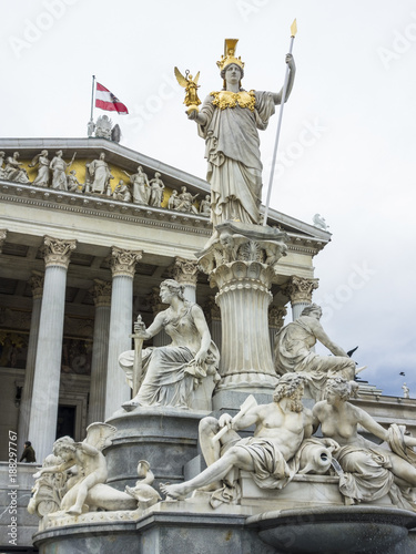 Aluminium Wenen austria, vienna, parliament