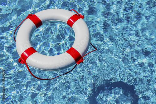 lifebuoy in a pool - 188298178