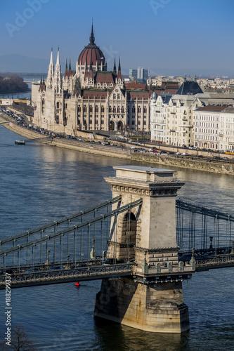 hungary, budapest, parliament - 188299337