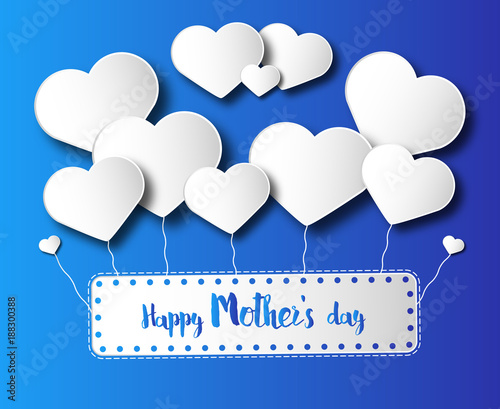 Happy Mother's day blue Card © MarcoMonticone