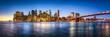 New York City skyline Panorama mit Brooklyn Bridge - 188302515