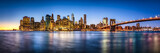 New York City skyline Panorama mit Brooklyn Bridge