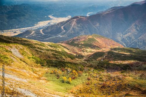 Papiers peints Miel Hakuba Mountain at Nagano in autumn