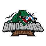 Dinosaurs Island Logo Design Wall Sticker