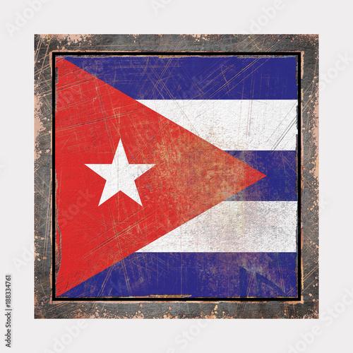 Tuinposter Havana Old Cuba flag