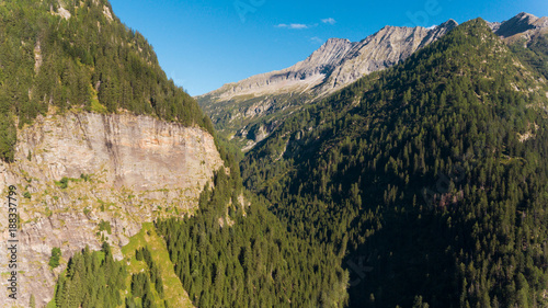 Aerial view in the canton Grisons in Switzerland - 188337799