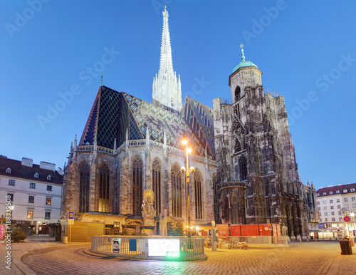 Austria - Vienna cathedral at night