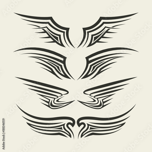 Wings Tribal tattoo - 188346159