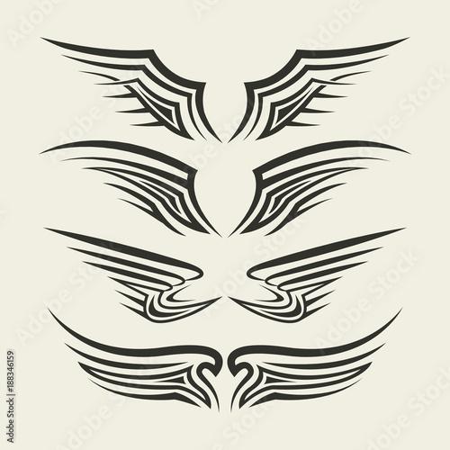 Wings Tribal tattoo - 188346159