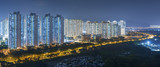 Panorama of residential district of Hong Kong city at night - 188346314