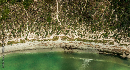 Foto Murales Beach from above