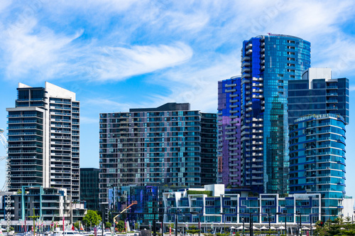 Modern apartment buildings background - 188351914