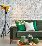 living room home decoration green sofa and middle table - 188356507