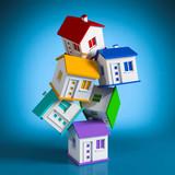 kleine Häuschen in die Höhe gestapelt - 188356708