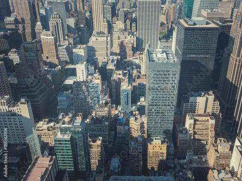 Fridge magnet Skyscrapers in the city