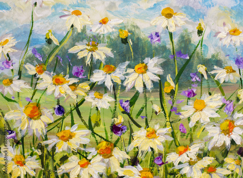 original-oil-painting-of-white-daisies-flowers-beautiful-field-flowers-on-canvas-modern-impressionism-palette-knife-impasto-artwork