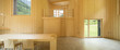 Interior of modrn wooden house - 188365103