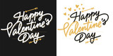 Valentine's day lettering card