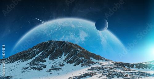 egzoplanety-w-kosmosie-elementy-renderowania-3d-tego-zdjecia-dostarczone-przez-nasa
