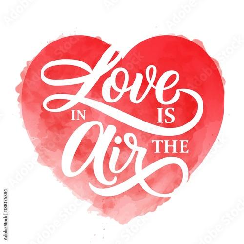 milosc-jest-w-powietrzu-napis-haslem-na-bogatym-czerwonym-tle-akwarela-serca-vintage-ilustracji-wektorowych-idealny-do-projektowania-na-walentynki
