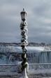 Frozen lamp post Niagara Falls Canada