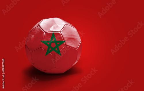 Deurstickers Marokko Moroccan soccer ball
