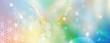 Leinwanddruck Bild - Banner Blume des Lebens in einem Lichtermeer aus Regenbogenfarben