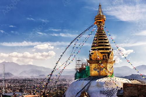 Plakát Swayambhunath, Kathmandu, Nepal