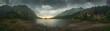 Mountain Landscape with Mountain Lake