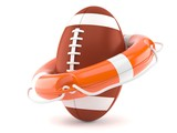 Rugby ball with life buoy - 188399792