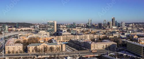 Vilnius winter panorama