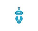 Robot Logo Wall Sticker
