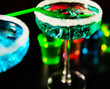 Tasty and colorful drinks based on various alcohols, syrups and liqueurs, unique effect of the bartender's work