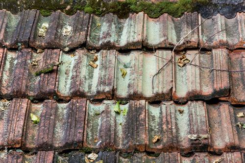 In de dag Baksteen muur telhado
