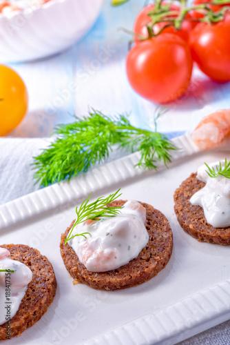 Staande foto Noordzee tasty crab salad