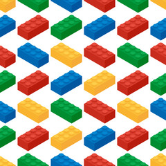 Seamless pattern from building blocks of children's game designe