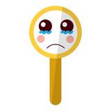 kawaii cute funny magnifying glass vector illustration - 188430345