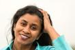 Leinwanddruck Bild - Portrait einer attraktiven Frau