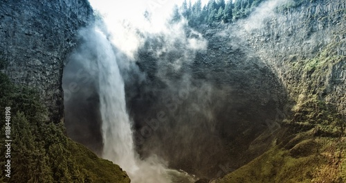Foto op Aluminium Natuur Waterfall and nature