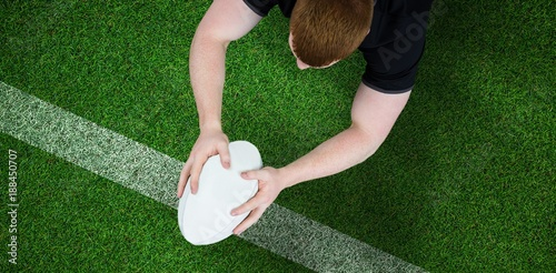 Composite image of a rugby player scoring a try - 188450707