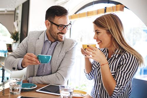Fototapeta Love Couple in Cafe