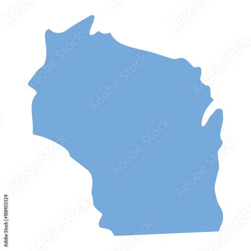 Fototapeta Wisconsin State map