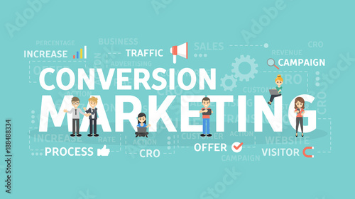 Conversion marketing concept.
