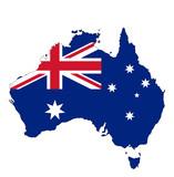 オーストラリア地図と国旗 - 188506594