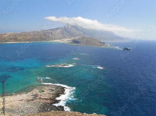 Foto Murales Coast of the island of Crete, view of the Balos lagoon.