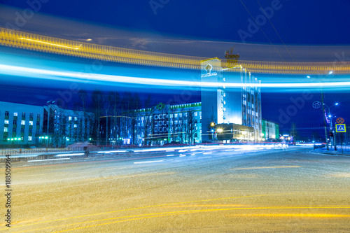 Foto Murales Night city lights