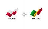 Poland versus Senegal. Football. Vector illustration. - 188512399
