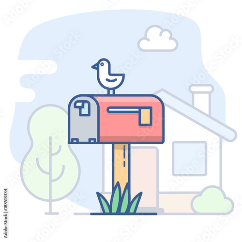 Vector empty mailbox icon. - 188513334